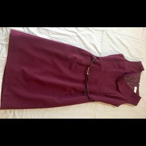 Size 4 Calvin Klein maroon/wine dress. Worn 5 x.